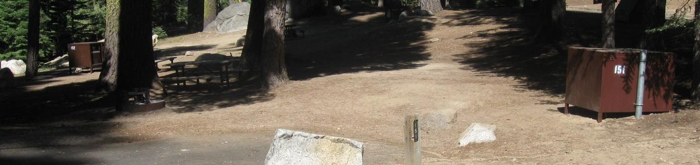 site 151, partial shade, near restrooms
