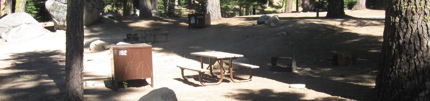 site 152, partial shade, near restrooms