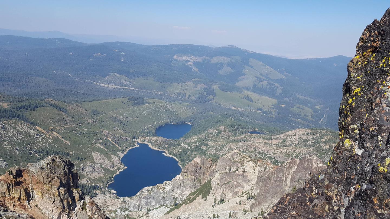 View from Sierra Buttes near Berger CampgroundView from Sierra Buttes, hike near Berger Campground