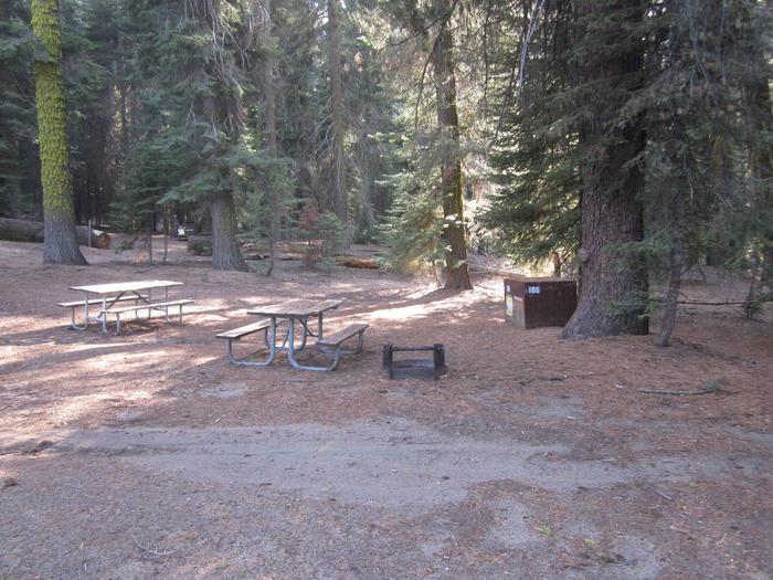 site 106, no generator loop, walk-in site, one vehicle, partial shade