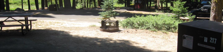 Site 217, no tent site, sunny