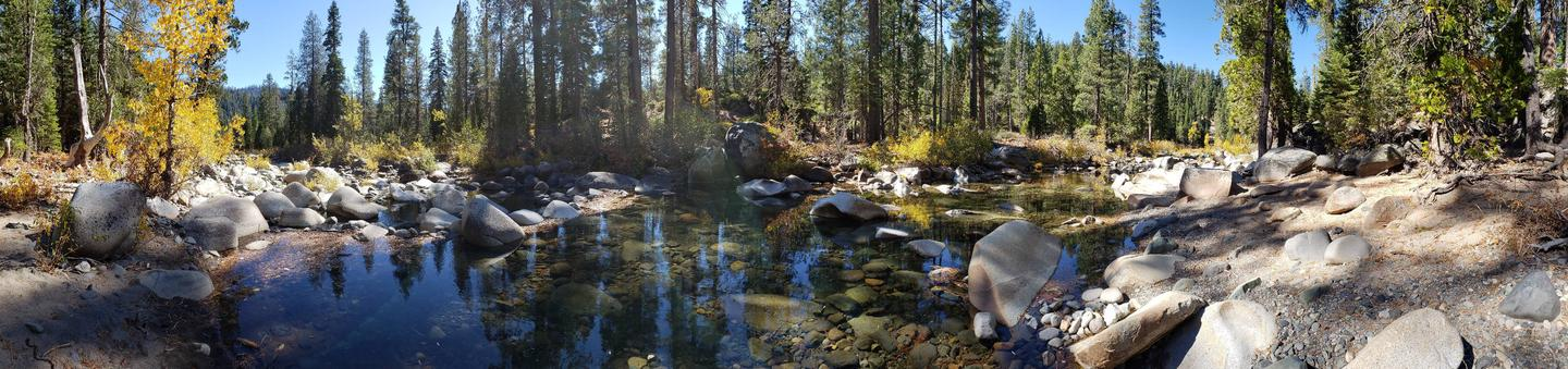 Headwaters of French Meadows Lake near Aspen Group Campground.