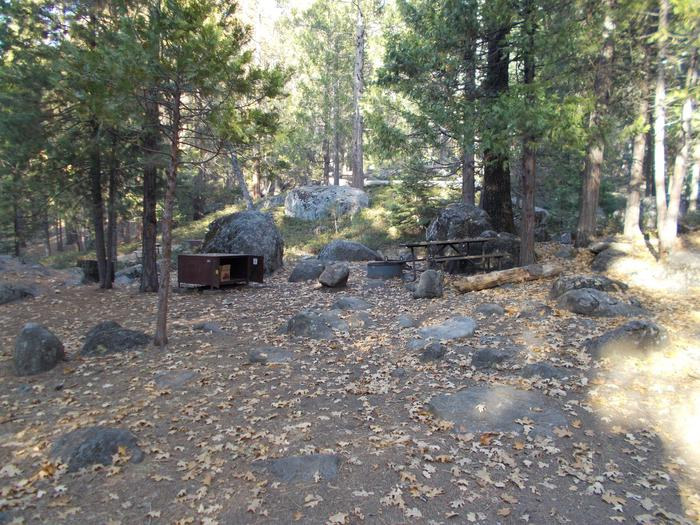 Food locker, picnic table, and fire ringSite 44