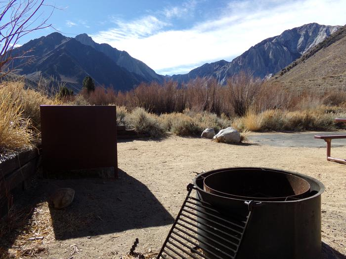 Additional view of mountains and campground from site #43, Convict Lake Campground.