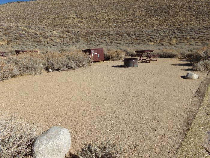 Large camping space at site #48, Convict Lake Campground.