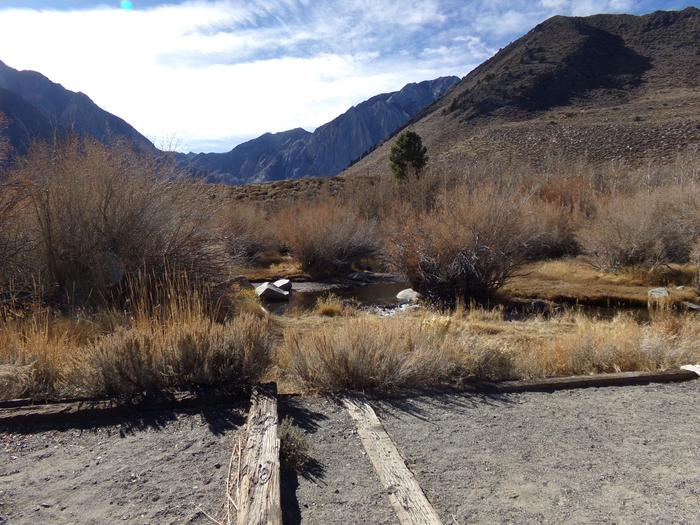 Pathway to creek from site #53, Convict Lake Campground.