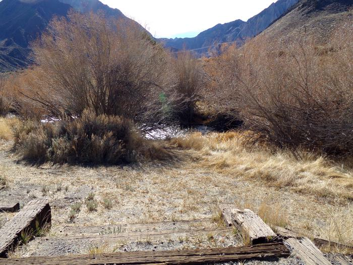 Pathway and access to creek from campsite #57, Convict Lake Campground.