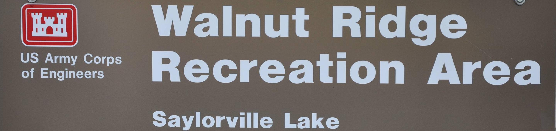 Walnut Ridge Recreation AreaEntrance Sign