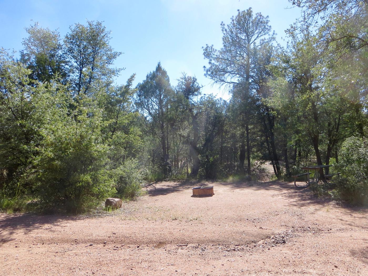 Houston Mesa, Horse Camp site #05 featuring entrance, parking, and picnic area.