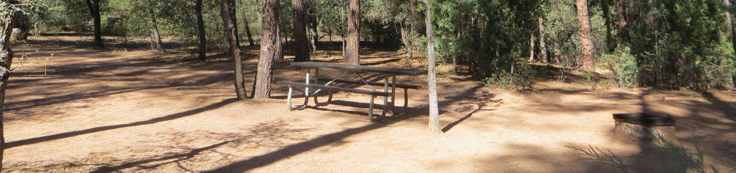 Houston Mesa, Black Bear Loop site #05 featuring large camping space with picnic table and fire pit.