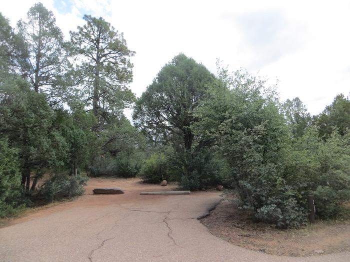 Parking space and entrance to site #10, Mountain Lion Loop at Houston Mesa.