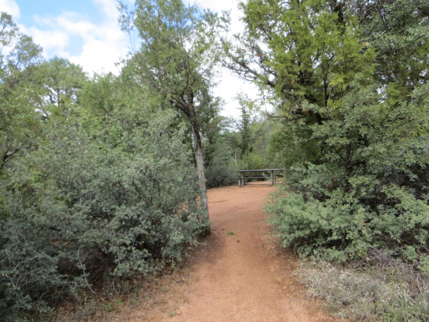 Private entrance from parking at site #13, Mountain Lion Loop, Houston Mesa.