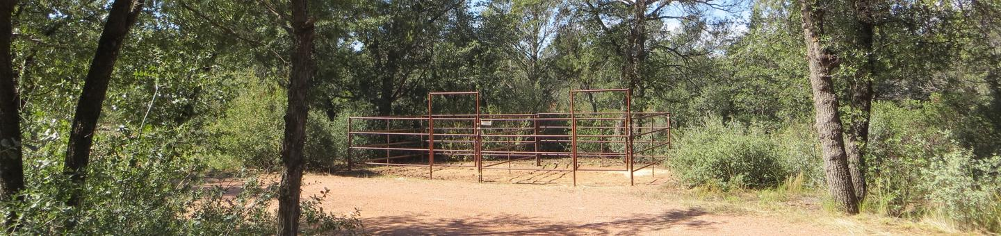 Houston Mesa, Horse Camp site #16 featuring entrance, parking, and horse corral.