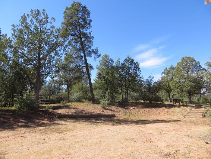 Houston Mesa, Horse Camp site #20 featuring entrance and parking, picnic area and horse corral.
