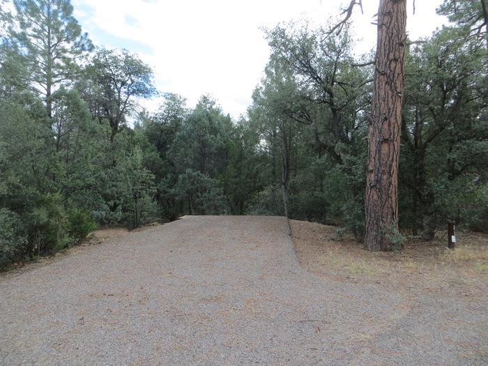 Parking space and entrance to site #21, Elk Loop at Houston Mesa.