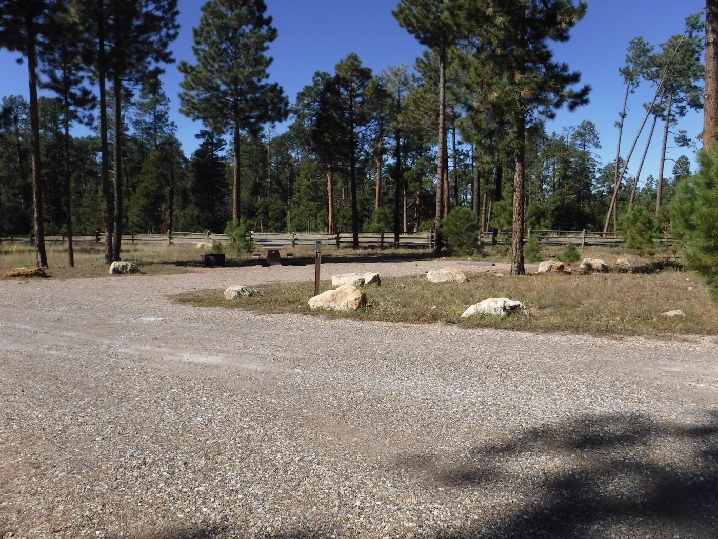 Jacob Lake site #01 featuring entrance, parking, and full camp space view.