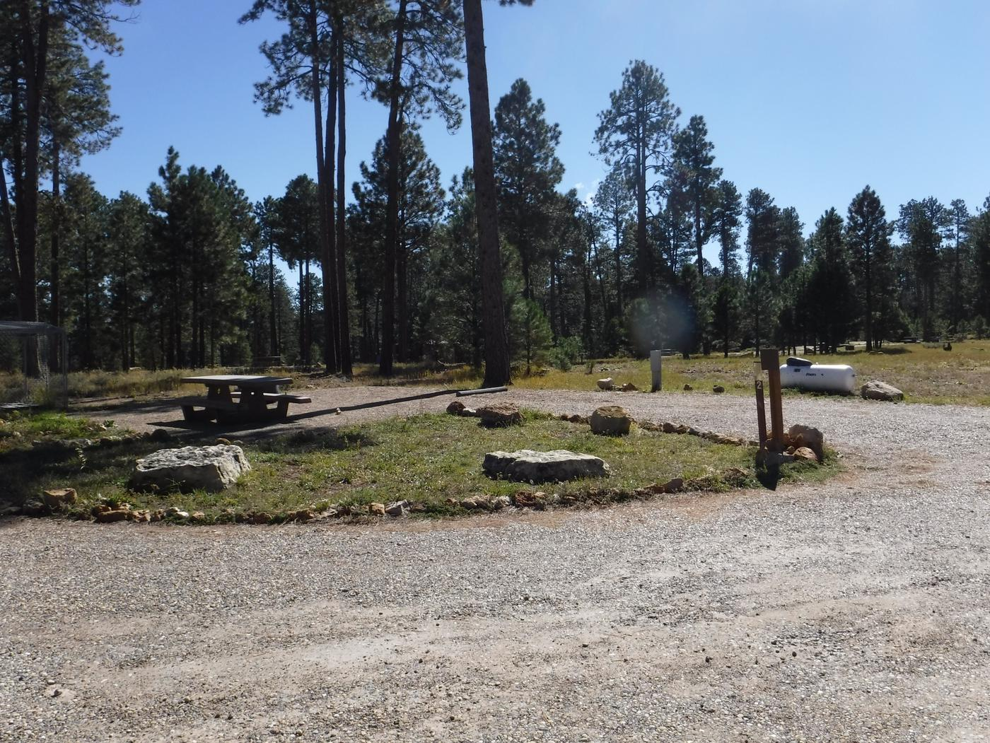 Jacob Lake site #02 featuring entrance, parking, and full camp space view.