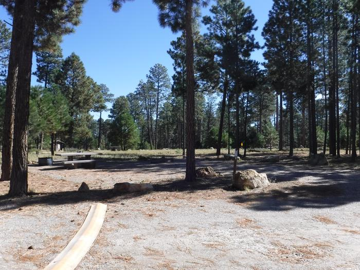 Jacob Lake site #06 featuring entrance, parking, and full camp space view.