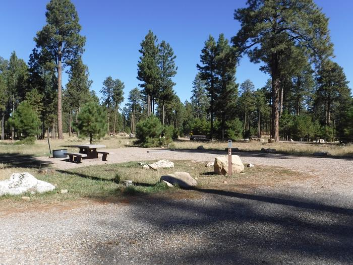 Jacob Lake site #13 featuring entrance, parking, and full camp space view.