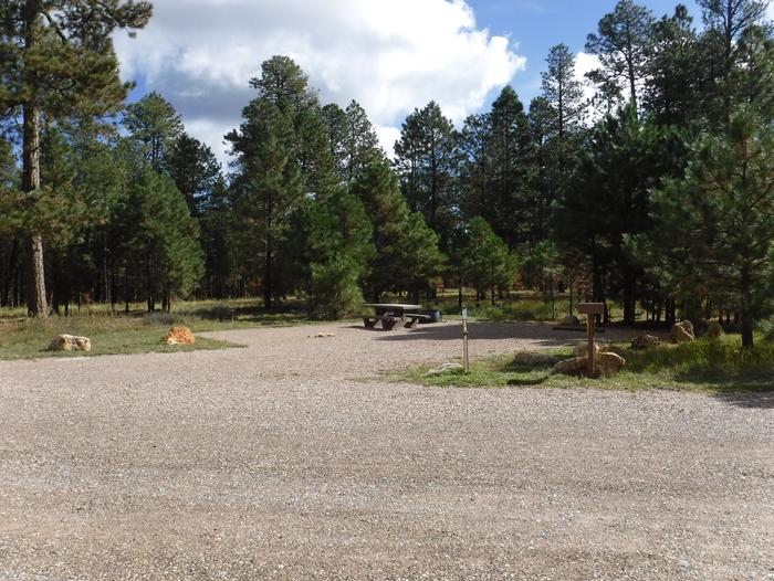Jacob Lake site #24 featuring entrance, parking, and full camp space view.