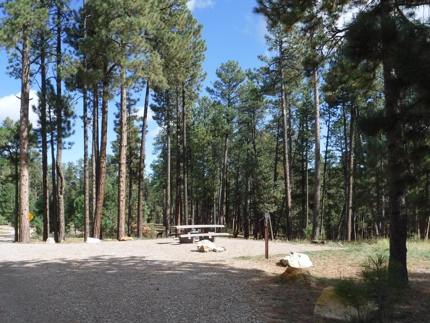Jacob Lake site #27 featuring entrance, parking, and full camp space view.
