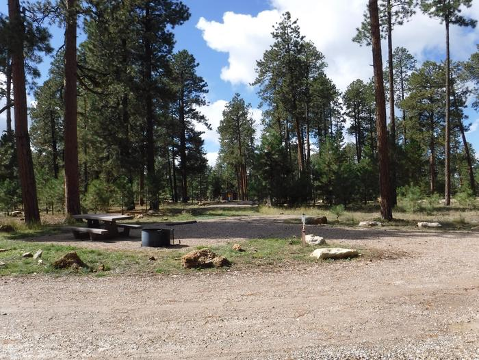 Jacob Lake site #37 featuring entrance, parking, and full camp space view.