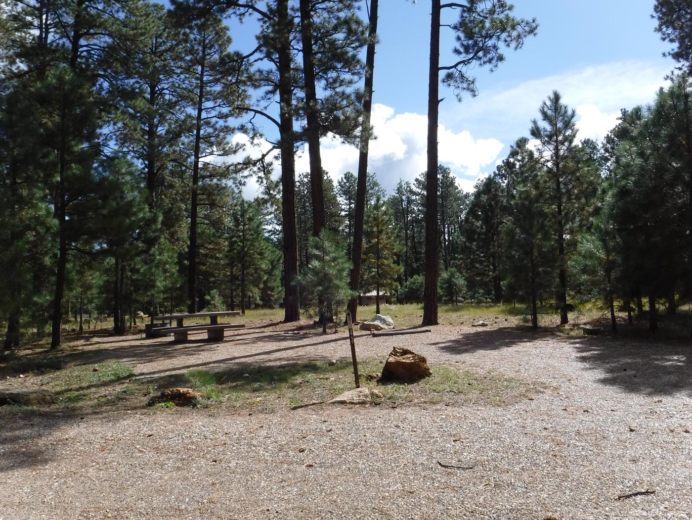 Jacob Lake site #43 featuring entrance, parking, and full camp space view.