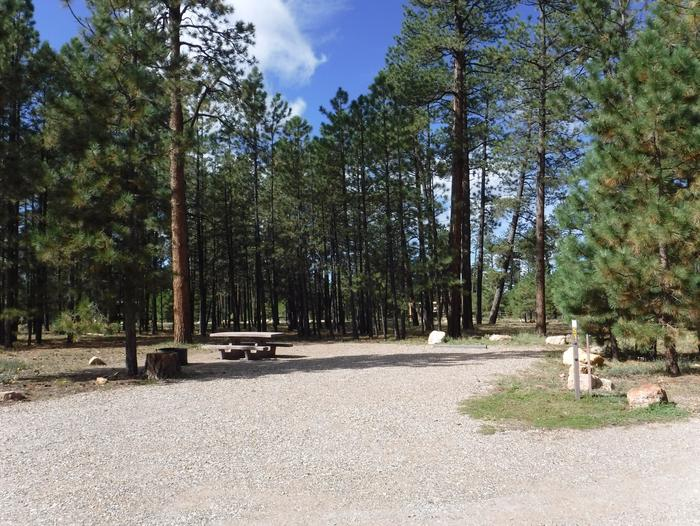 Jacob Lake site #51 featuring entrance, parking, and full camp space view.