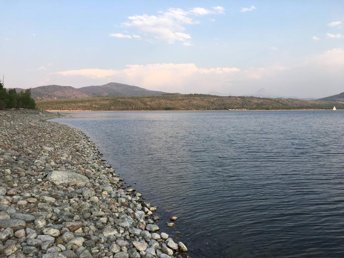Miles of ShorelineDillon Reservoir adjacent to Heaton Bay Campground