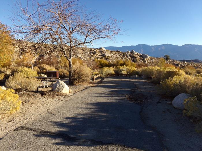 Parking space and entrance to site #24, Lone Pine Campground.
