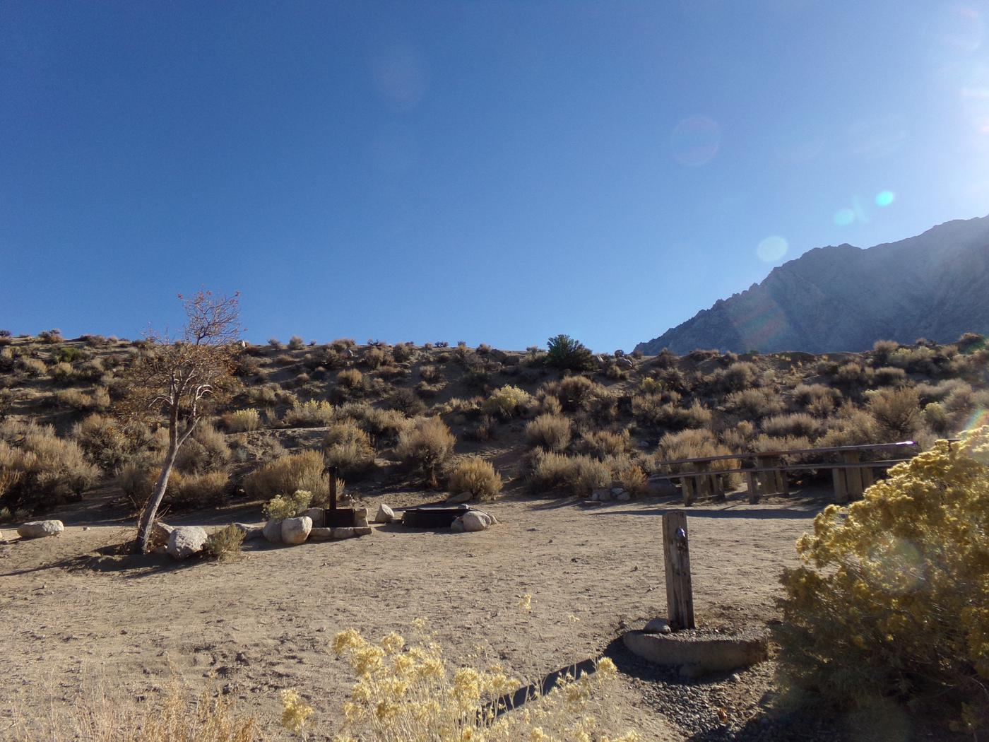 Mountain views from campsite #43, Lone Pine Campground.
