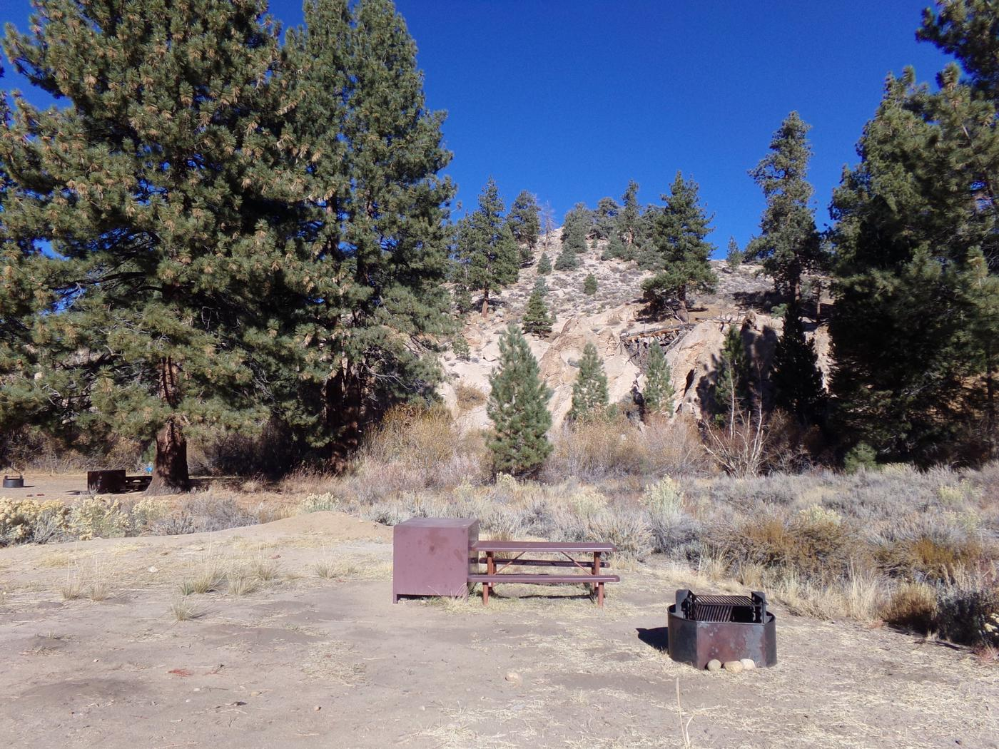 Alternate view of site #32 at Tuff Campground featuring picnic and camping area.