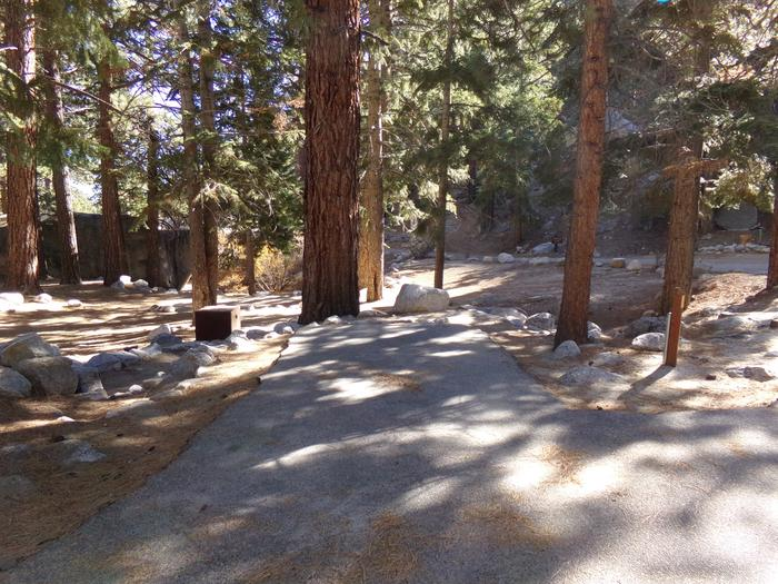 Parking space and entrance to site #11, Mt. Whitney Portal Campground