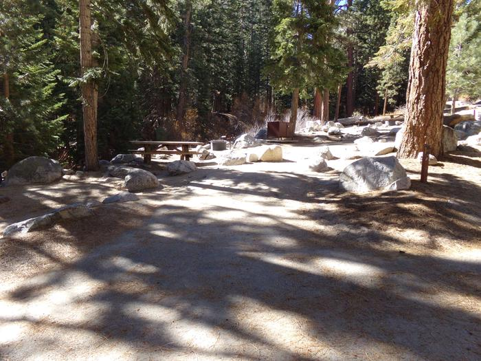Parking space and entrance to site #40, Mt. Whitney Portal Campground.