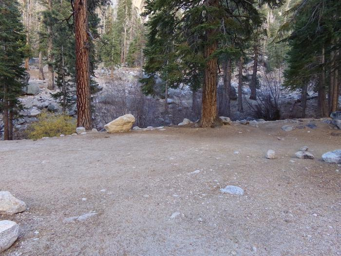 Mt. Whitney Portal Campground Group Site #02 featuring mountain top camping space.