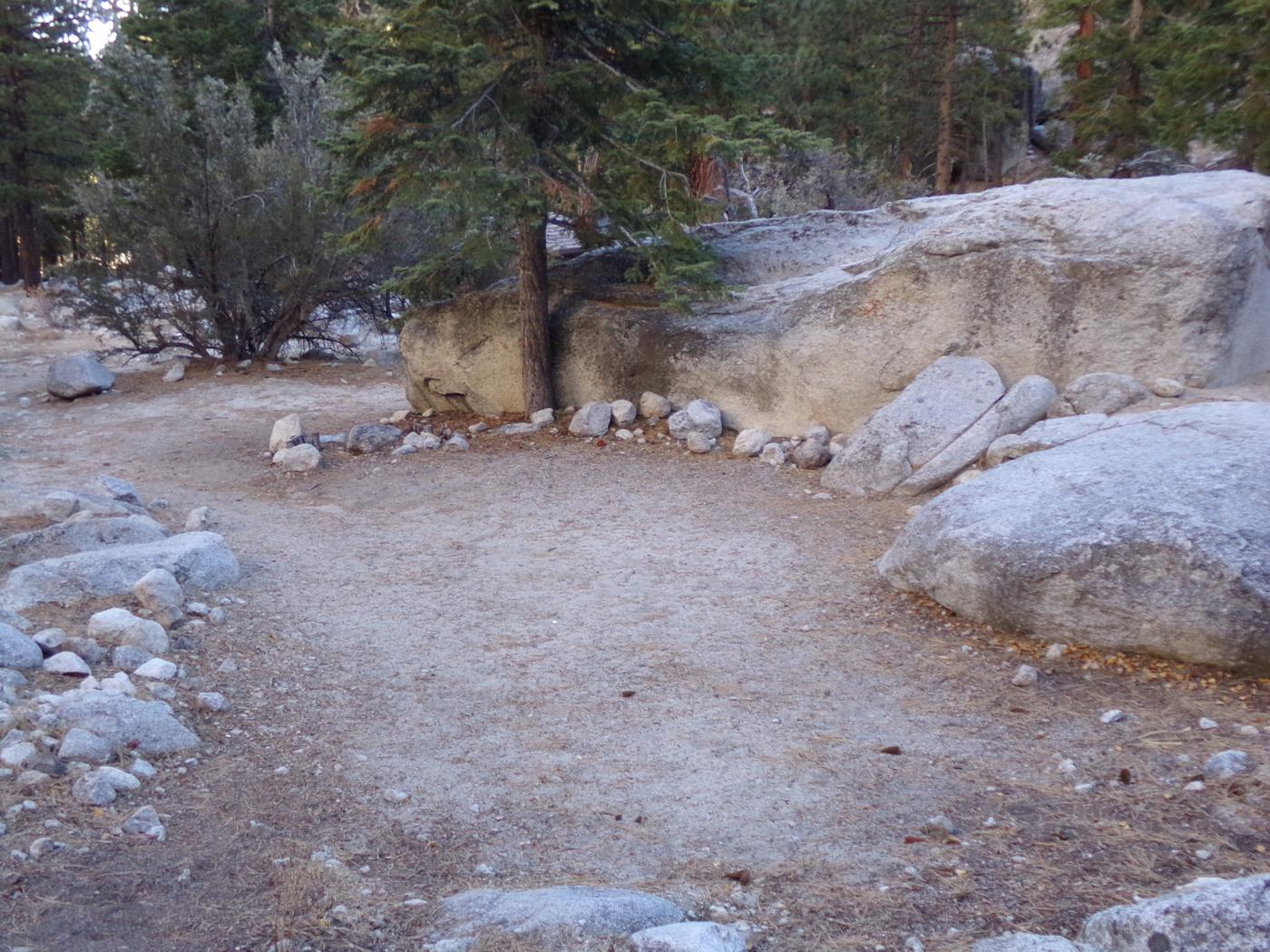 Mt. Whitney Portal Campground Group Site #03 featuring mountain top camping space.