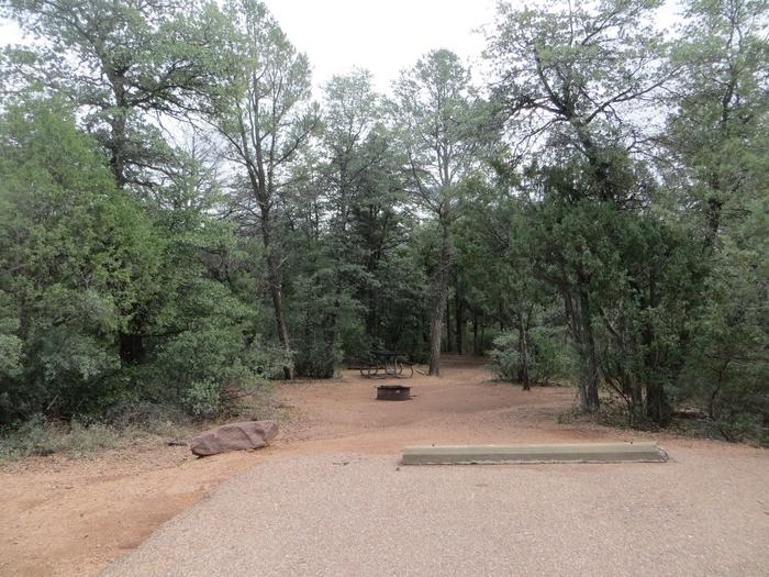 Parking space and entrance to site #12, Houston Mesa, Mountain Lion Loop.