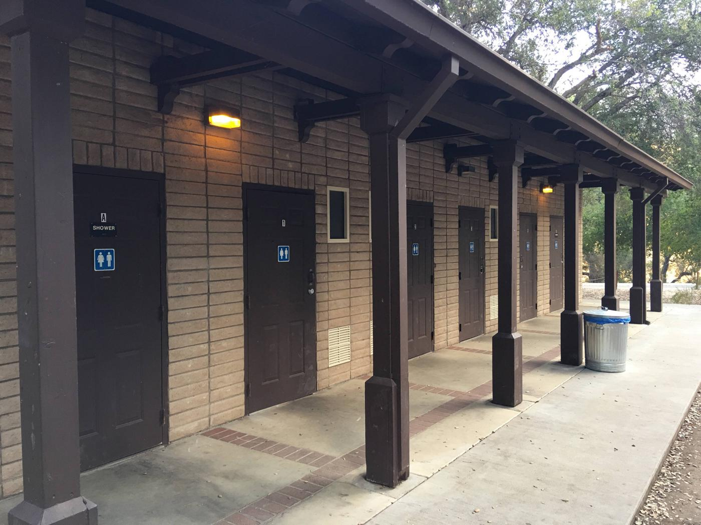 Arroyo Seco Main Campground restroom and Shower Building