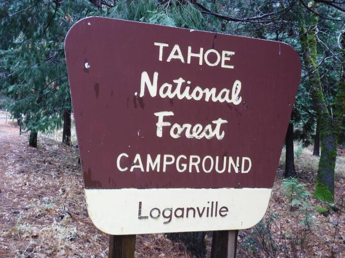 Loganville Campground Entrance SignLocated on highway 49 at N 39 33'57. W 120 39'43.