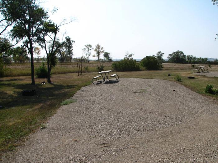 Hazelton Recreation Area Campsite # 15Hazelton Recreation Area campsite # 15.  Campsite includes a fire pit and a picnic table.
