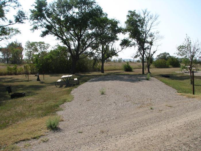 Hazelton Recreation Area Campsite #17Hazelton Recreation Area campsite #17.  Campsite includes a fire pit and a picnic table.