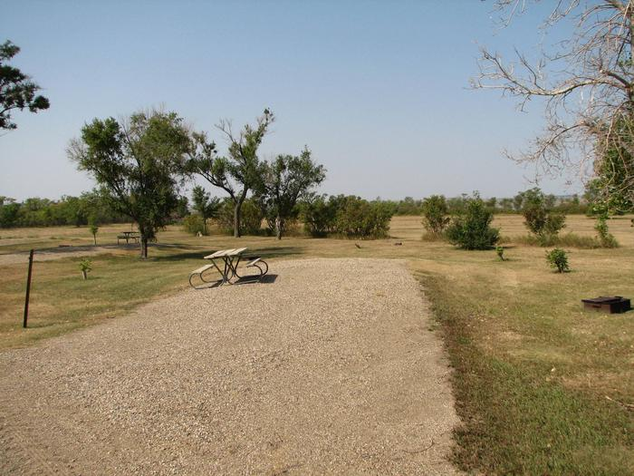 Hazelton Recreation Area Campsite # 18Hazelton Recreation Area campsite #18.  Campsite includes a fire pit and a picnic table.
