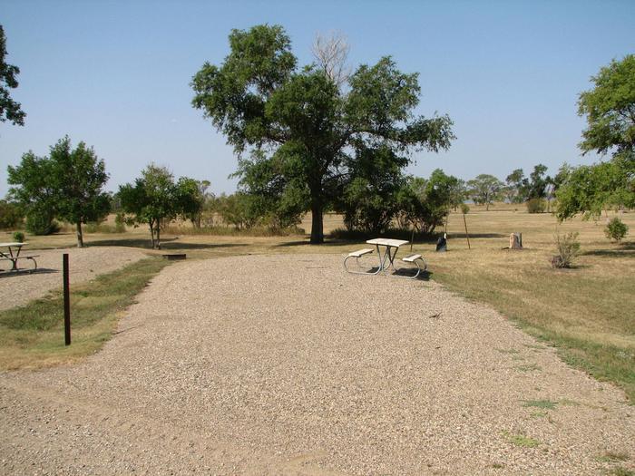 Hazelton Recreation Area Campsite # 22Hazelton Recreation Area campsite # 22.  Campsite includes a fire pit and a picnic table.