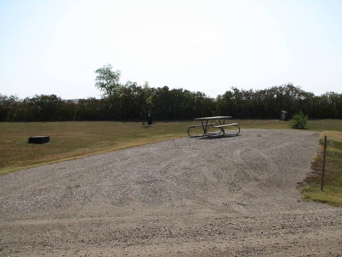 Hazelton Recreation Area Campsite #29Hazelton Recreation Area campsite #29.  Campsite includes a fire pit and a picnic table.