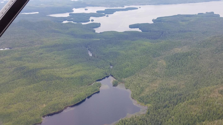 Karta LakeAerial Image: Karta Lake Outflow