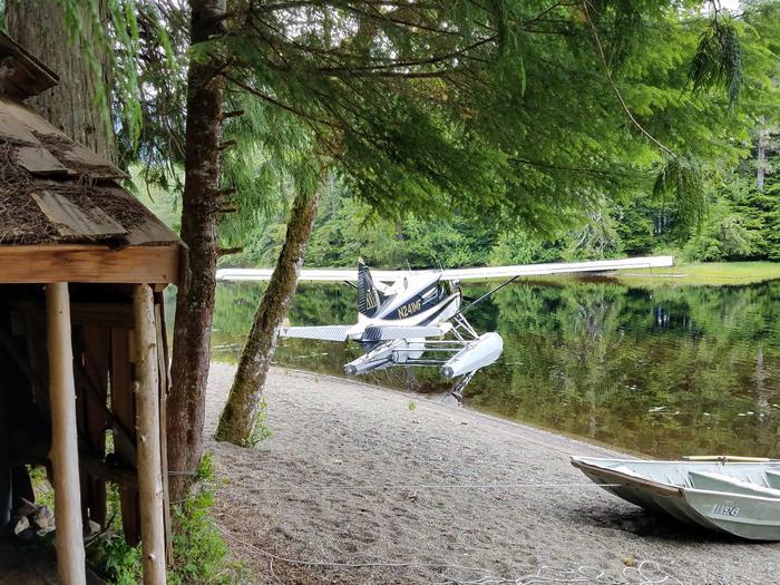 Salmon LakeShoreline at Salmon Lake Cabin