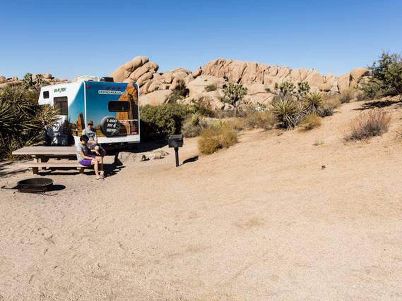 Jumbo Rocks site 36Another view of campsite