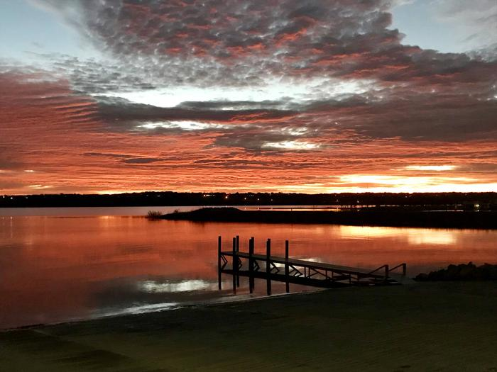 Speegleville boat ramp at sunrise