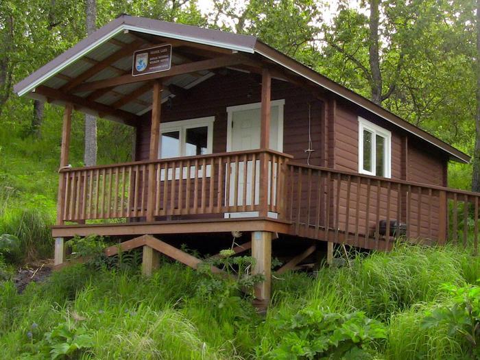 Cabin from the frontUganik Lake Cabin