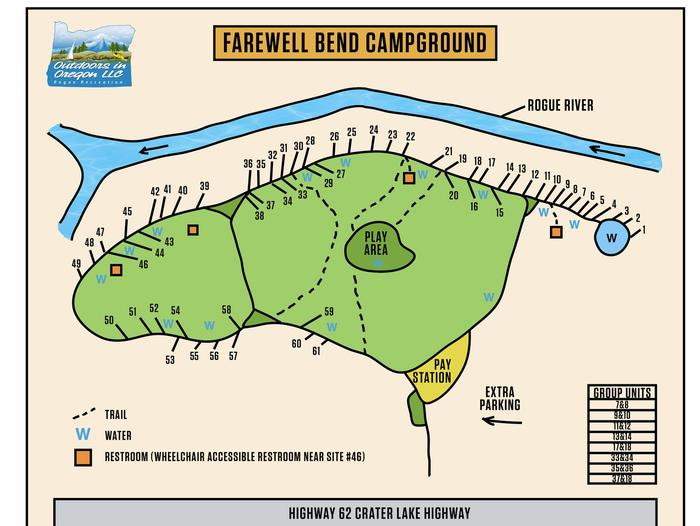 Map of Farewell Bend